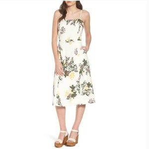 Leith - White Floral Midi Dress